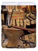 Blacksmith - Anvil And Hammer Duvet Cover