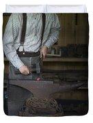 Blacksmith At Work Duvet Cover