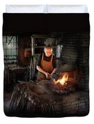 Blacksmith - Blacksmiths Like It Hot Duvet Cover by Mike Savad