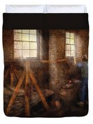 Blacksmith - It's Getting Hot In Here Duvet Cover by Mike Savad