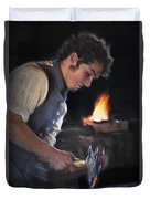 Blacksmith - Pioneer Village Duvet Cover