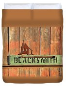 Blacksmith Sign Duvet Cover