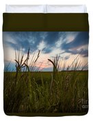 Blades Of Sunset Duvet Cover