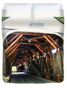 Blair Bridge, Campton Nh Duvet Cover