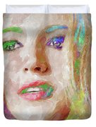 Blake Lively Watercolor Duvet Cover