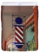 Blake's Barbershop Pole Vector II Duvet Cover