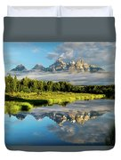 Blame It On The Tetons Duvet Cover