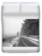 Blanchland Road In Winter, Slaley Woods Duvet Cover