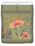 Blanket Flower Portrait Duvet Cover