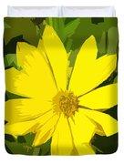 Blaze Of Yellow Duvet Cover