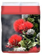 Blazing Blooms Of Ohia Flowers Duvet Cover