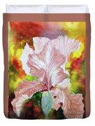 Blazing Iris Duvet Cover