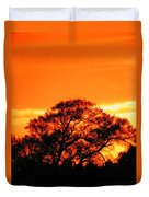 Blazing Oak Tree Duvet Cover