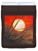 Blazing Sun And Wind-blown Grasses Duvet Cover