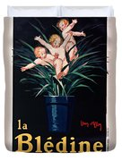 Bledine- Baby - Flower Pot - Old Poster - Vintage - Wall Art - Art Print - Porridge  Duvet Cover