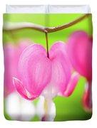 Bleeding Heart Flower Duvet Cover