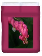Bleeding Hearts Flowers Duvet Cover