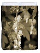 Bleeding Hearts In Sepia Duvet Cover