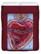 Bleeding Sacred Heart Duvet Cover