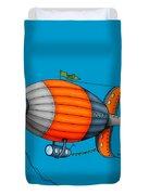 Blimp Orange Duvet Cover