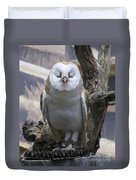 Blinking Owl Duvet Cover