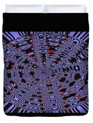 Blue Black Red Abstract Duvet Cover