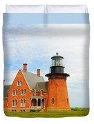 Block Island Southeast Lighthouse Artwork Duvet Cover