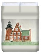 Block Island Southeast Lighthouse Duvet Cover