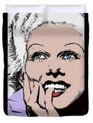 Blond Bombshell Duvet Cover