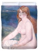 Blonde Bather II Duvet Cover