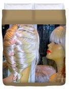Blonde, Braids, Bangs And Beautiful Duvet Cover