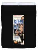 Blonde Ice Film Noir Duvet Cover