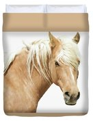 Blonde Stallion Duvet Cover