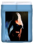 Blonde Woman Duvet Cover