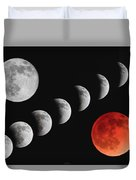 Blood Moon Of The Tetrad Duvet Cover
