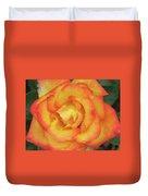 Blood Orange Rose Duvet Cover