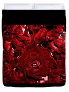 Blood Red Roses Duvet Cover