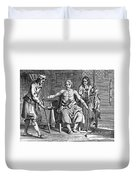Blood Transfusion From Dog To Man, 1692 Duvet Cover