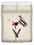 Bloody Dining Table Duvet Cover by Joana Kruse