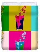 Bloody Mary Pop Art Panels Duvet Cover