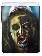 Bloody Zombie Nurse Screaming Out In Insanity Duvet Cover