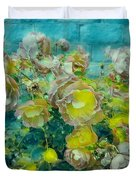 Bloom In Vintage Ornate Style Duvet Cover