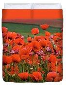 Bloom Red Poppy Field Duvet Cover
