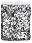 Blooming Apple Tree Duvet Cover