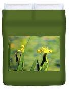 Blooming At Green Lake Duvet Cover