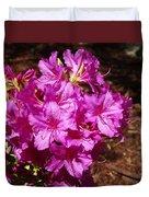 Blooming Azaleas Duvet Cover
