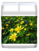 Blooming Buttercups. Duvet Cover