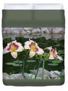 Blooming By The Pond Duvet Cover