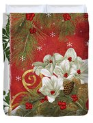 Blooming Christmas II Duvet Cover