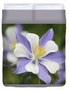 Blooming Columbine Duvet Cover